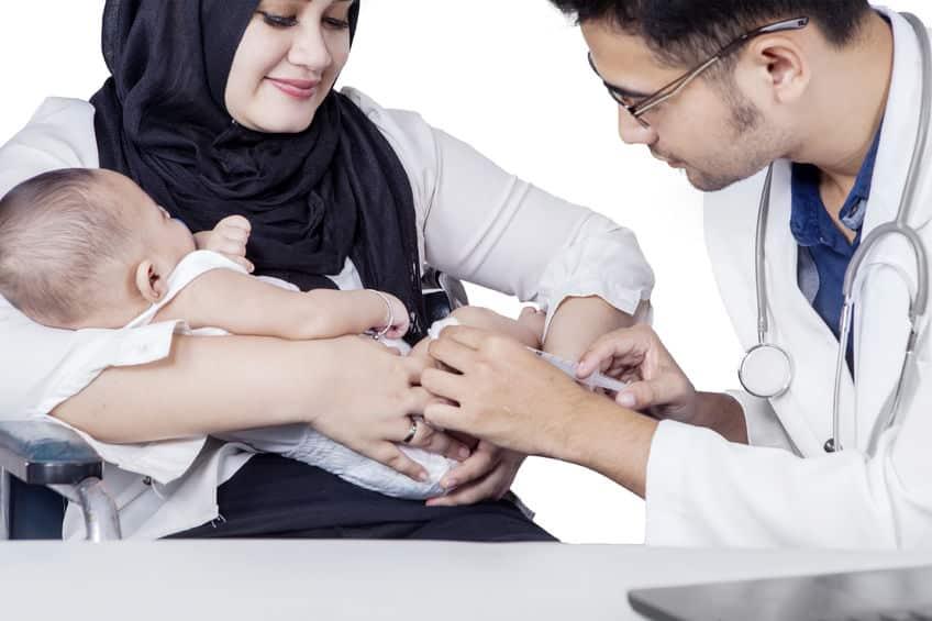 تطعيم الطفل