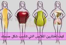 اختيار الملابس اشكال الجسم