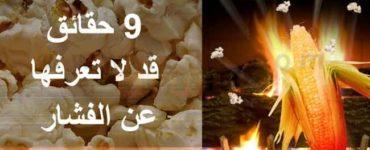 تسعة (9) حقائق قد لا تعرفها عن الفشار