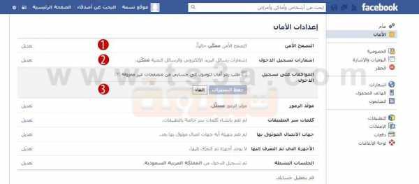 حماية حساب الفيس بوك