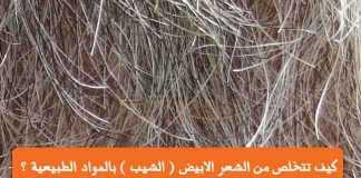 كيف تتخلص من الشعر الابيض الشيب المواد الطبيعية