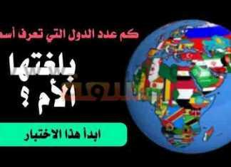 اختبار الدول ومعرفة أسماءها بلغتها الأم