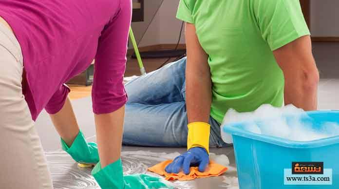 ترتيب تنظيف المنزل بسرعة
