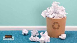 تقليل استهلاك الأوراق وإعادة تدويرها
