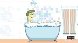 استحمام حمام دش