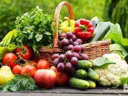 الفاكهة والخضروات سليمة وطازجة
