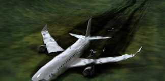 النجاة من حادث تحطم طائرة