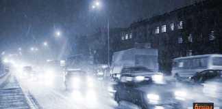 قيادة السيارة في فصل الشتاء