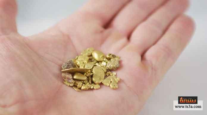 استخراج الذهب من باطن الأرض