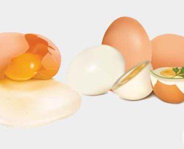 تمييز البيضة النيئة عن المسلوقة
