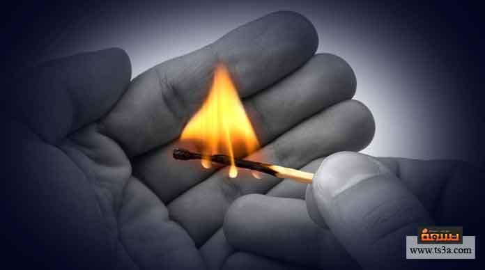 كيف يتم حدوث الاشتعال ونشوء النار