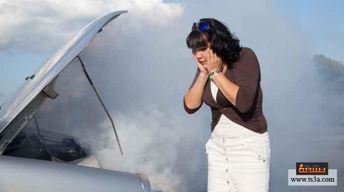ارتفاع درجة حرارة محرك السيارة