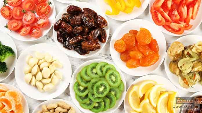 تجفيف الخضروات والفواكه
