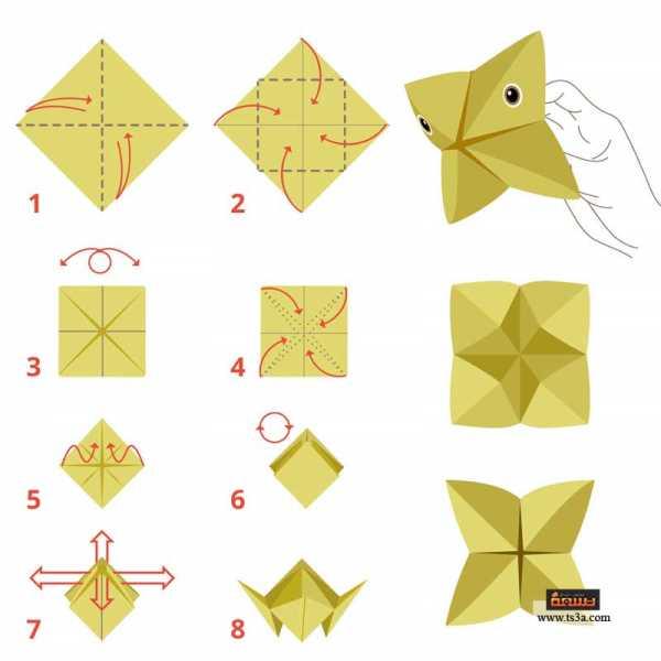 تعلم فن الأوريجامي 1