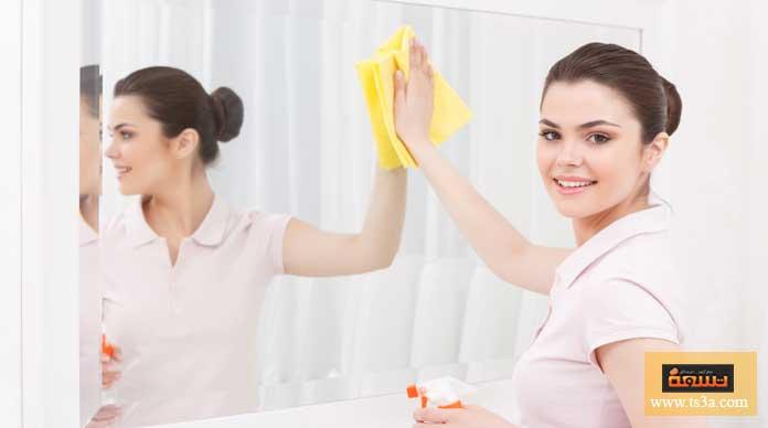 تنظيف المرآة
