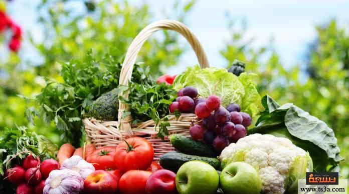 السحور الخضروات والفاكهة