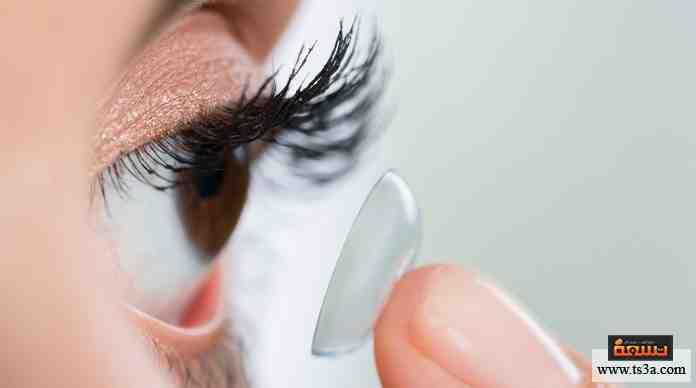العدسات اللاصقة والنظارة الطبية