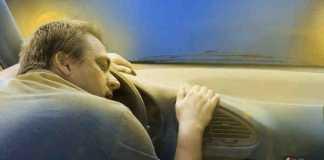 النوم أثناء السفر والقيادة