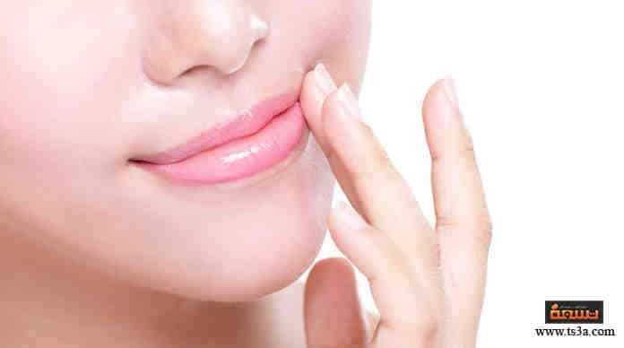المنطقة الداكنة حول الفم