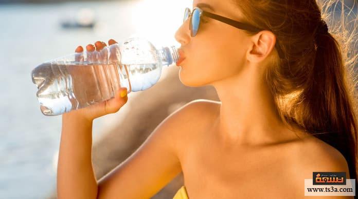 شرب لترين من الماء