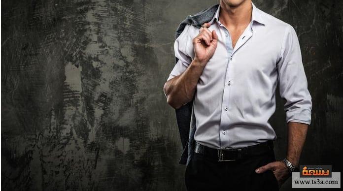 ارتداء القمصان وضع القميص في البنطال