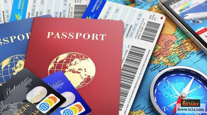 لون جواز السفر أنواع جوازات السفر