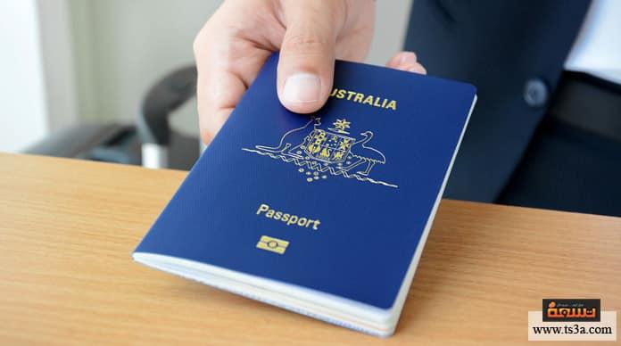 لون جواز السفر