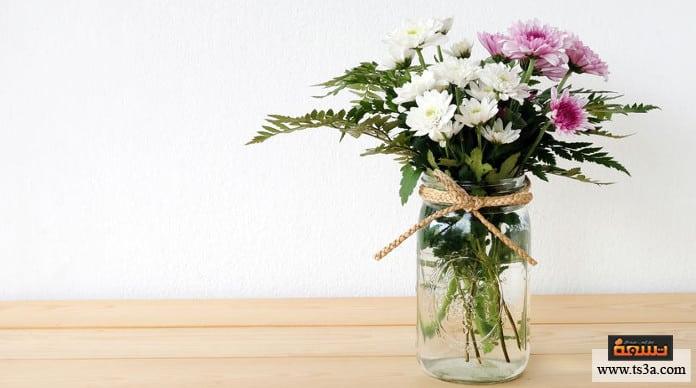 صناعة الهدايا برطمان زهور بسيط وملون