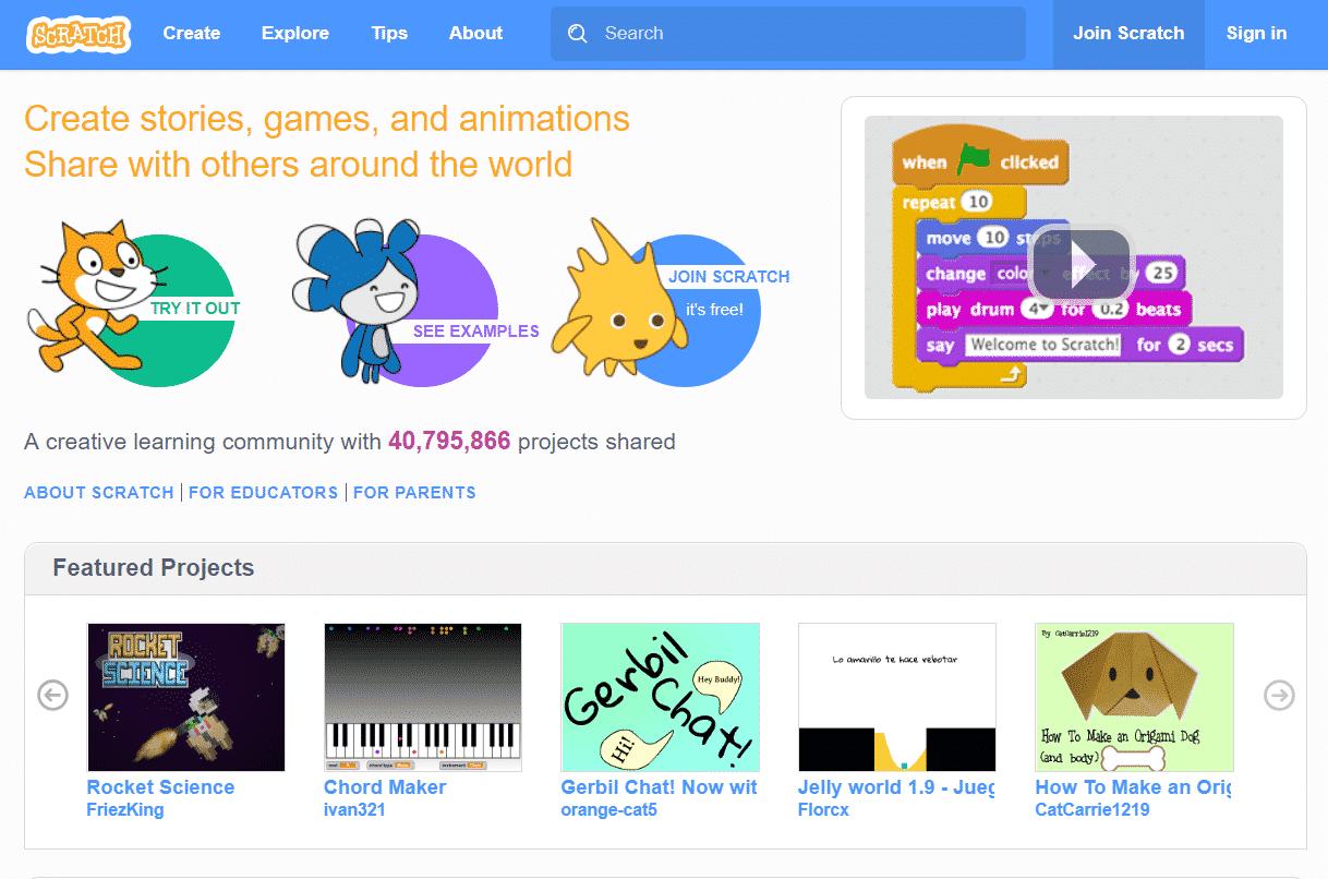 سكراتش نبذة عن برنامج سكراتش Scratch لتعلم البرمجة