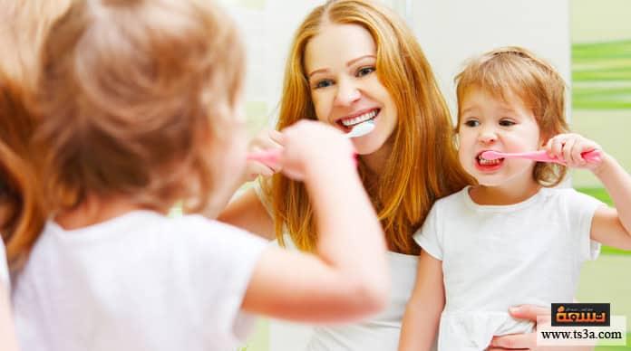 تنظيف أسنان الطفل تعليم الأطفال تنظيف الأسنان
