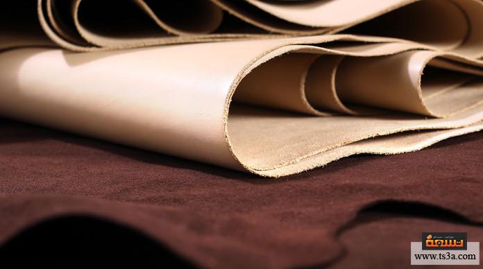 منتجات الجلد الطبيعي مرحلة الإعداد والتهيئة