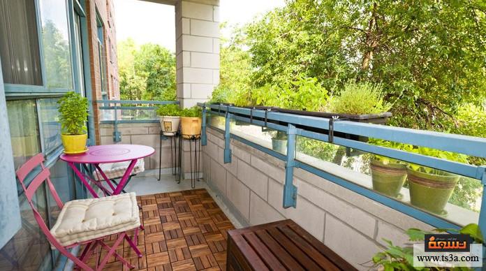 تزيين الشرفة