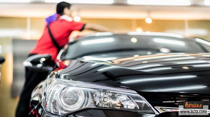 تنظيف سقف السيارة تنظيف سقف السيارة الخارجي بدون مياه