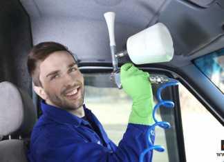 تنظيف سقف السيارة