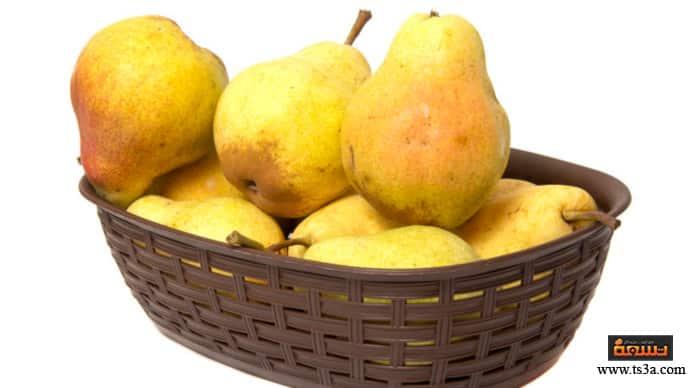 فاكهة الكمثرى فوائد الكمثرى للشعر