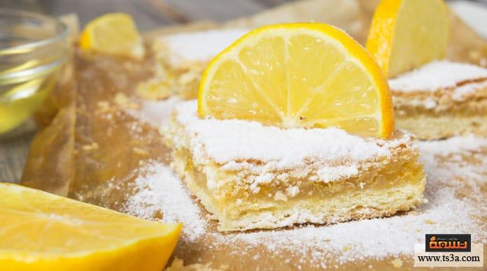 كيكة الليمون والبرتقال