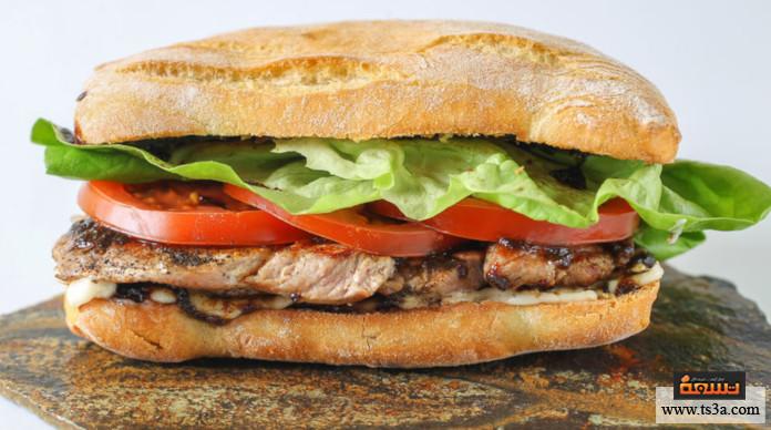 أكلات أمريكية ساندويشات ستيك مقلي بالحليب