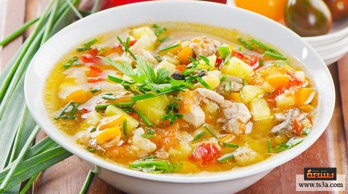 حساء الدشيشة حساء الدشيشة النباتية
