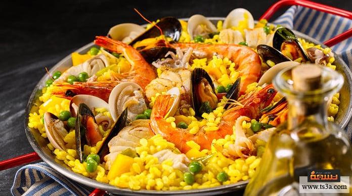 أرز باييا أرز باييا مع مختلف المأكولات البحرية