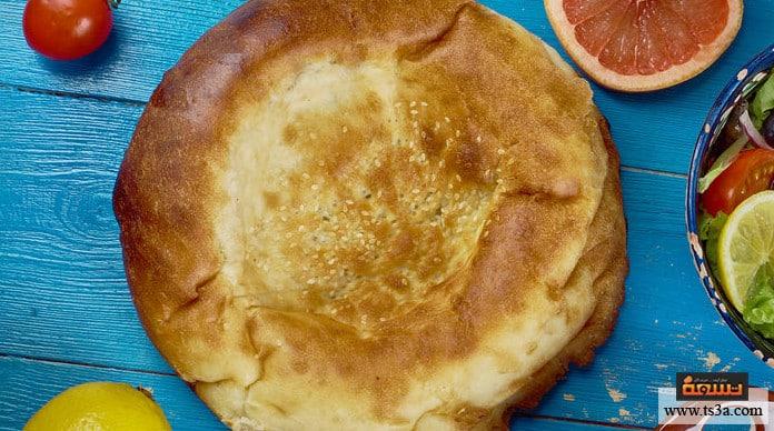 الطابونة خبز الطابونة في الفرن