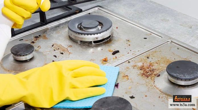 تنظيف البوتاجاز طريقة تنظيف البوتاجاز والعيون