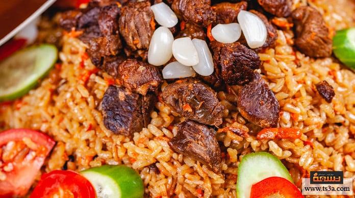 الأرز المعمر طاجن الأرز المعمر بالبصل والقرفة