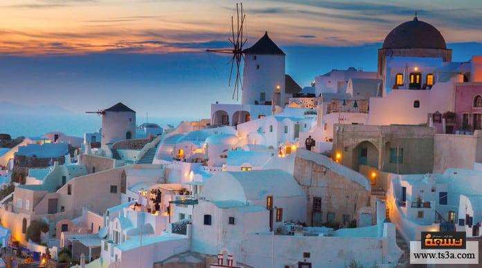 السياحة في سانتوريني السياحة في اليونان والحجاب