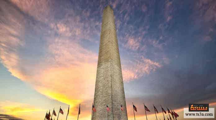 نصب واشنطن نجا من الزلازل