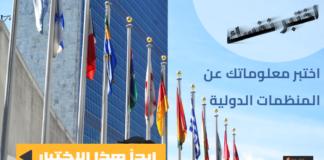 اختبار المنظمات الدولية