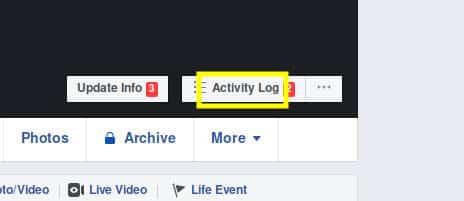 استخدام فيسبوك سجل النشاطات