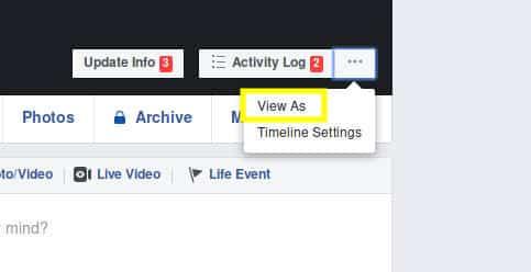 استخدام فيسبوك مشاهدة ملفك الشخصي كما يراه الآخرون