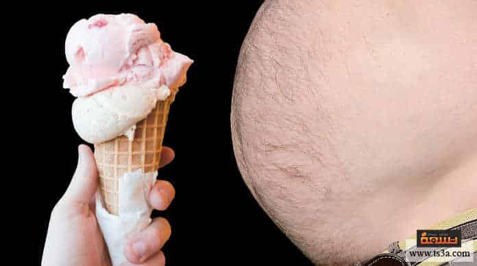 دهون البطن تناول الطعام المنخفض في السعرات الحرارية