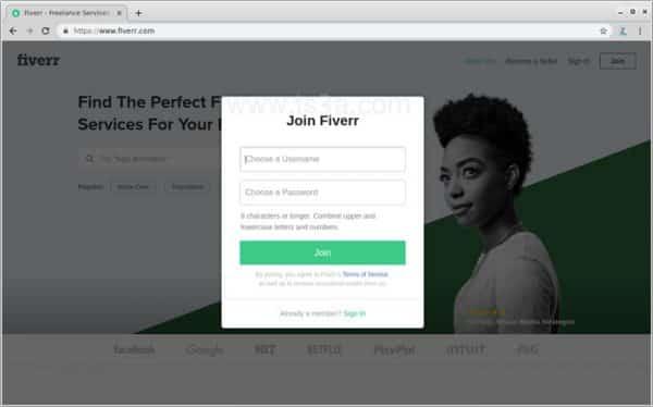 عرض الخدمات على فايفر 2